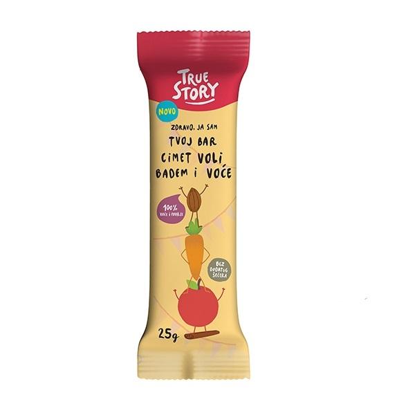 Tvoj bar cimet voli badem i voće True Story 25g