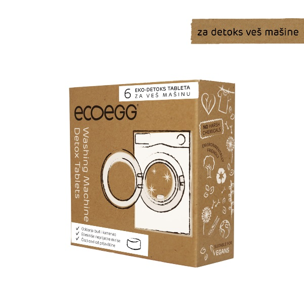 ECOEGG 3u1eko-detoks tablete za veš mašinu, 6 tableta