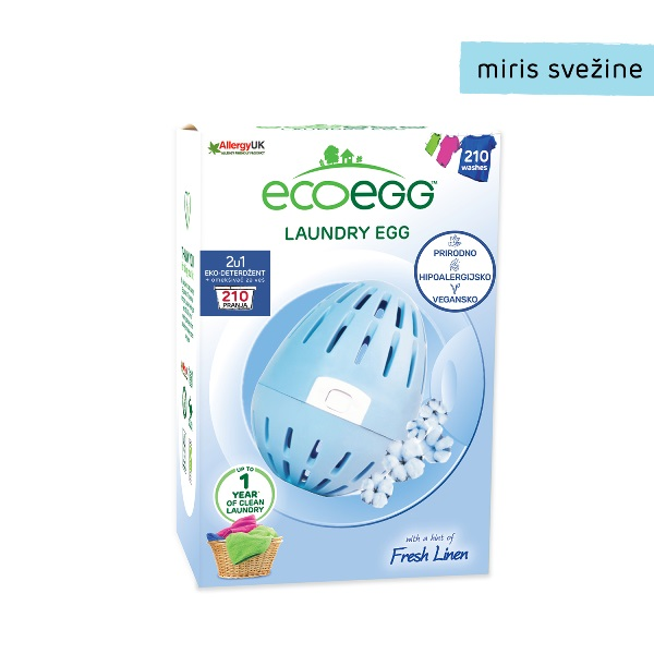 ECOEGG 2u1 eko-deterdžent i omekšivač za veš za veš, Miris svežine- 210 pranja