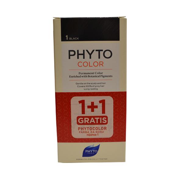 PHYTOCOLOR FARBA ZA KOSU 1 - NOIR 1+1 GRATIS