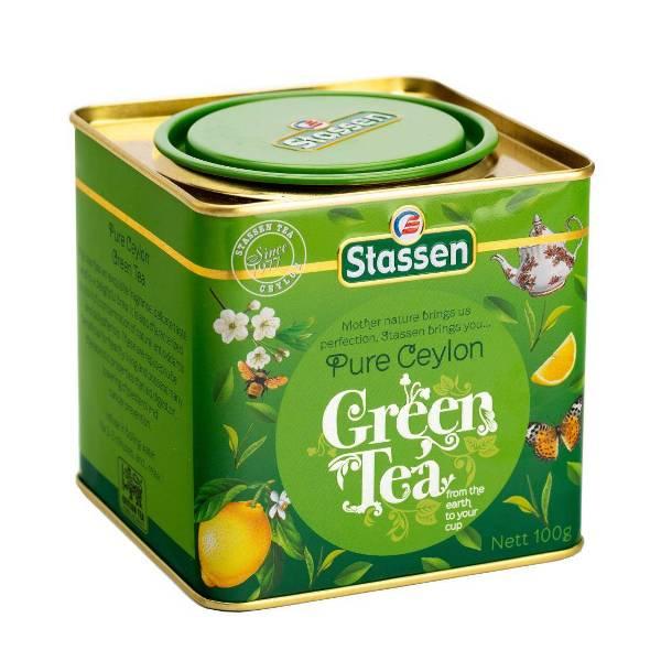 Pure ceylon green tea - čist zeleni cejlonski čaj limenka 100g