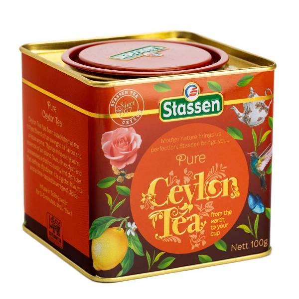Pure ceylon black tea - čist crni cejlonski čaj limenka Stassen 100g