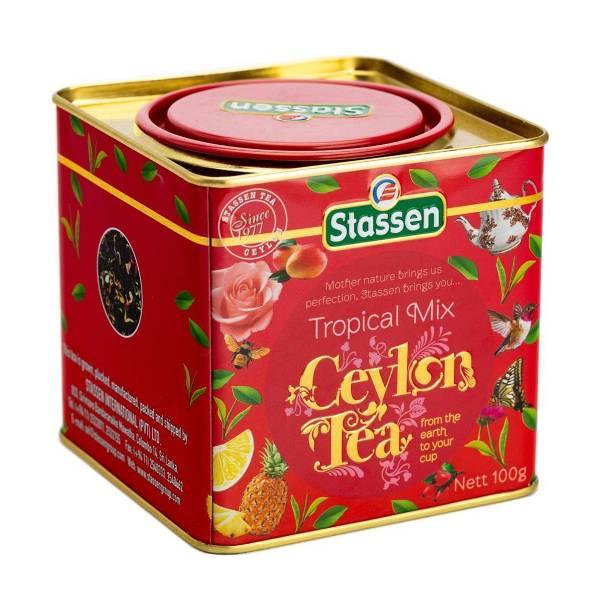 Tropical mix ceylon tea Stassen limenka 100g