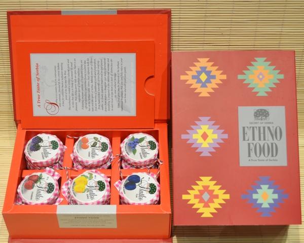 ETHNO FOOD Suvenir kartonska poklon kutija - Slatko 6x50 g
