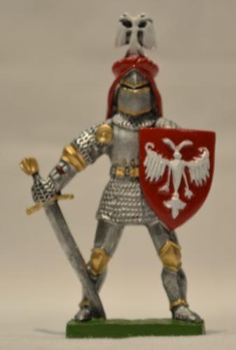 Metalna figura u boji vitez Nemanjić
