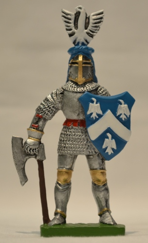Metalna figura u boji vitez Altomanović