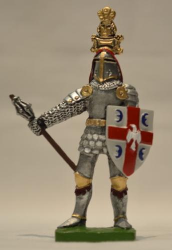 Metalne figure u boji vitez Mrnjavčević