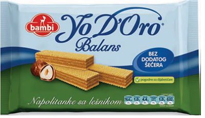 YO DORO BALANS-napolitanke sa lešnikom 100g