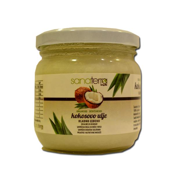 Organsko devičansko kokosovo ulje Sanaterra 150g