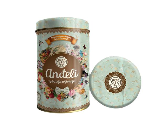 Ovseni kolači sa belom čokoladom i brusnicom Anđeli limenka 300g