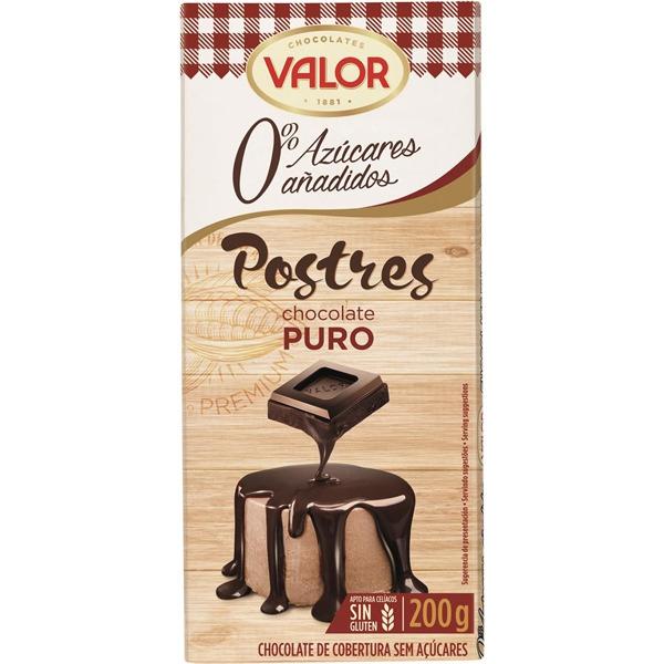 Čokolada za jelo i kuvanje bez glutena i bez šećera Valor 200g