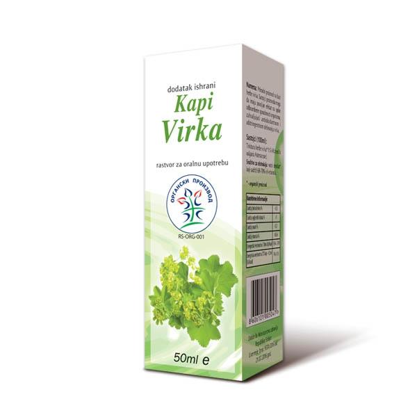 Virak biljne kapi organic  Mediflora 50ml