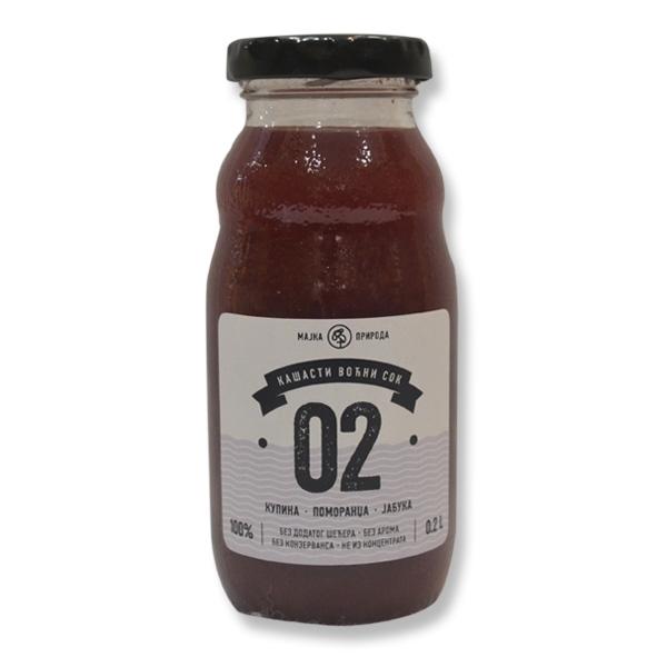 Voćni sok kupina, pomorandža, jabuka 02 200ml