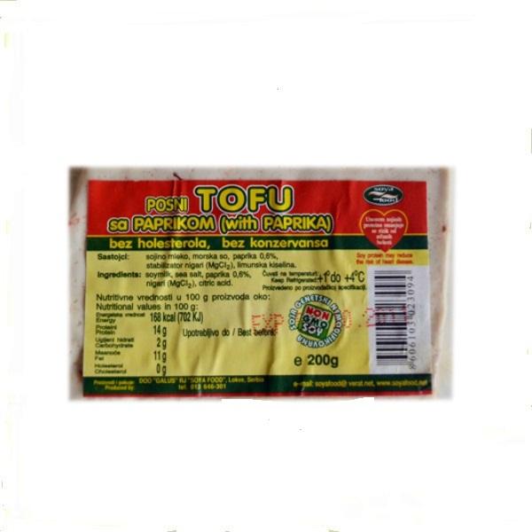 Tofu sir sa paprikom 200g Soya Food