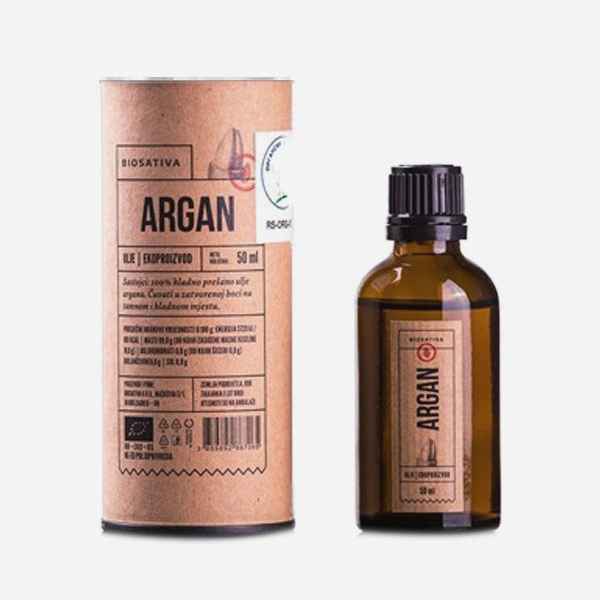 Organsko ulje argana Biosativa 50ml
