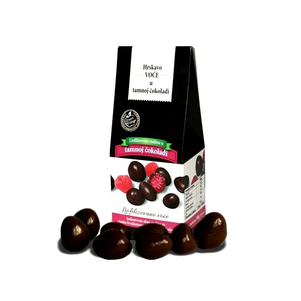 Liofilizovana malina u tamnoj čokoladi 80g