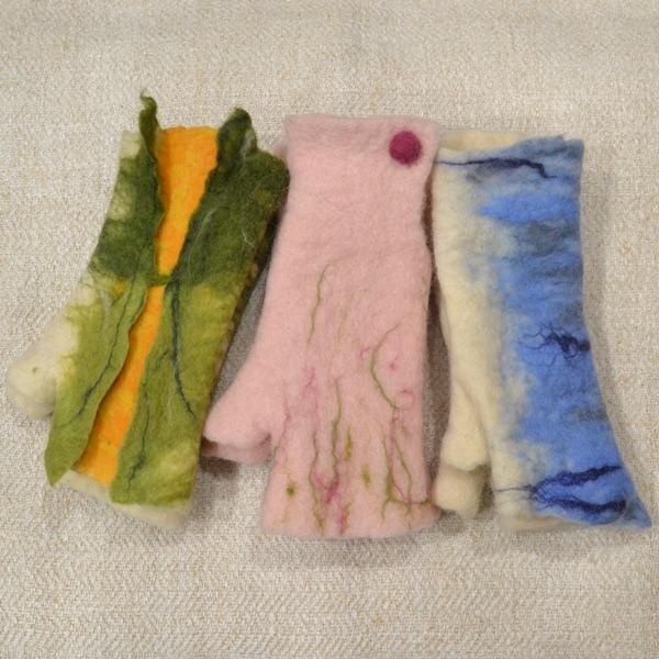 Rukavice bez prstiju pustovana vuna