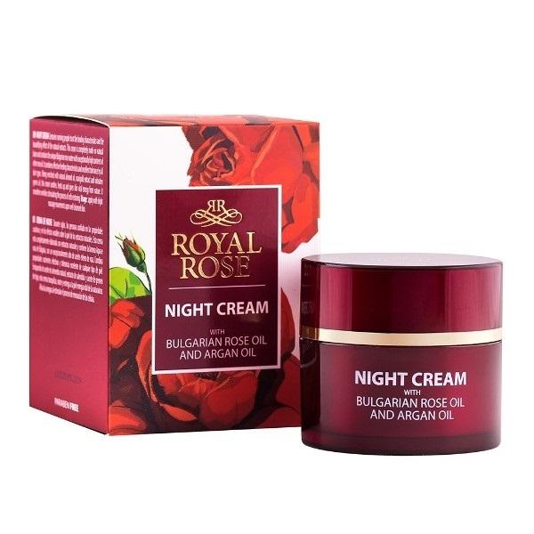 Royal Rose Noćna krema sa arganovim i ružinim uljem 50ml