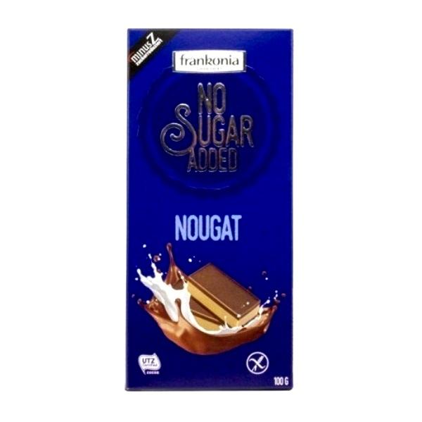 Mlečna nugat čokolada bez šećera Frankonia 100g
