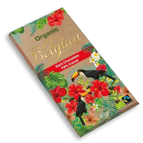 Tamna čokolada 72% kakao organic The Belgian 90g