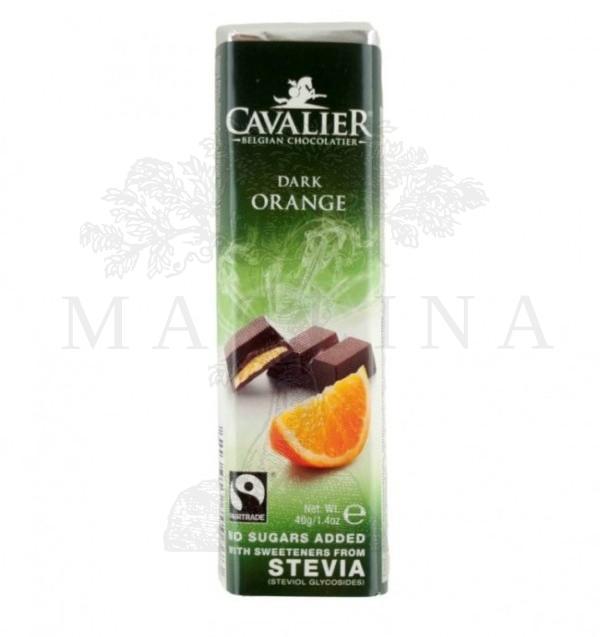 Čokolada crna sa komadima pomorandže Cavalier 40g