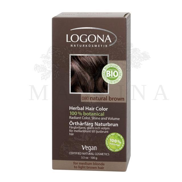 Logona Biljna boja za kosu u prahu Prirodno smeđa 100g
