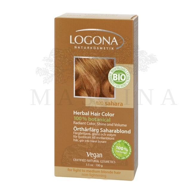 Logona Biljna boja za kosu  u prahu Sahara plava 100g