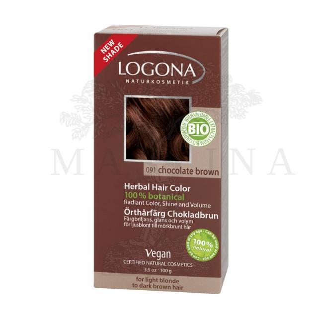 Logona biljna boja za kosu  u prahu Čokolada 100g