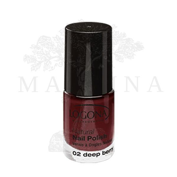 Logona Prirodni lak za nokte 02 - Deep Berry 4ml