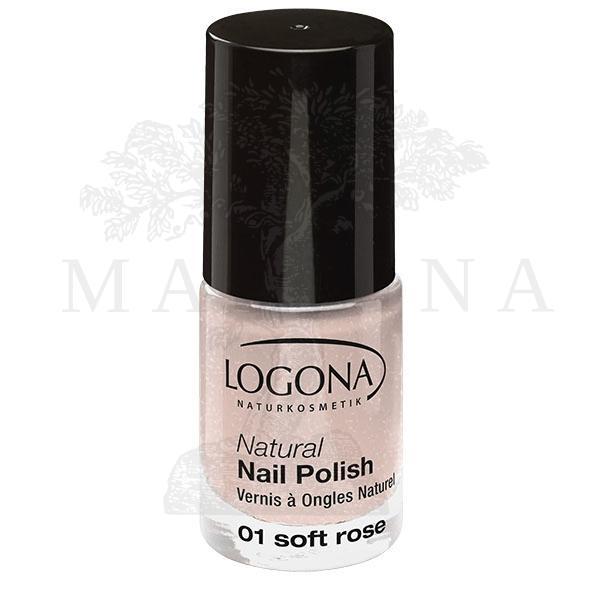 LOGONA Prirodni lak za nokte 01 - Soft Rose 4ml