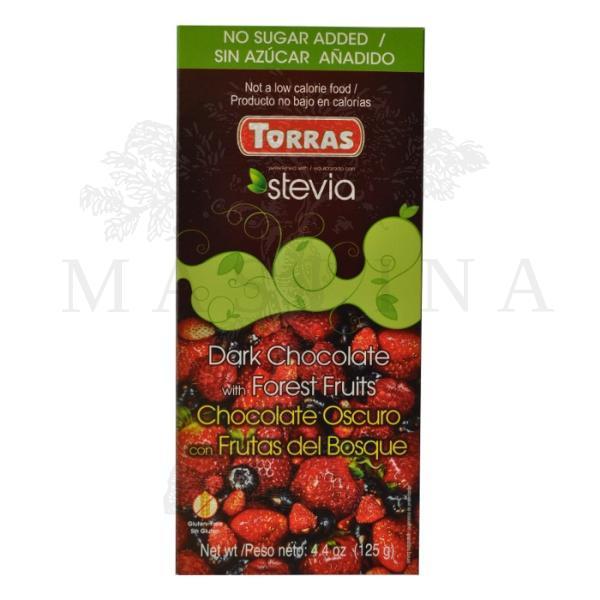 Crna čokolada sa šumskim voćem i steviom Torras 125g