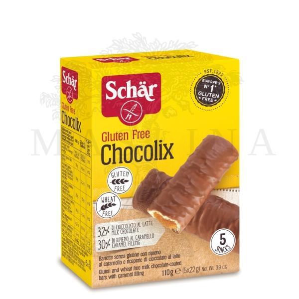 Schar Chocolix keks sa mlečnom čokoladom punjen karamelom bez glutena 110g