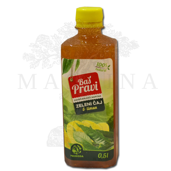 Pravi Napitak zeleni čaj i limun 500ml