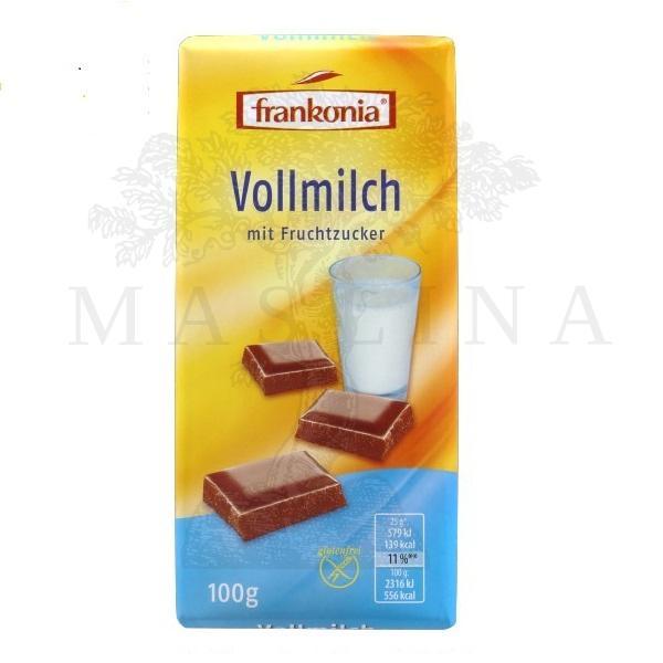 Čokolada mlečna dijet  Frankonia 100g