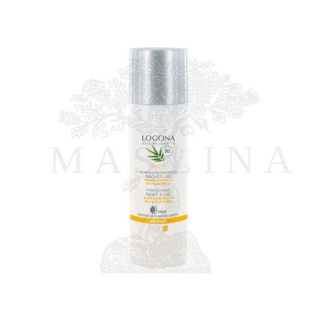 Logona noćni fluid za sužavanja pora za mešovitu kožu 30ml