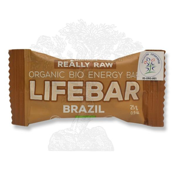 Mini Lifebar dezert sa brazilskim orahom organic LifeFood 25g