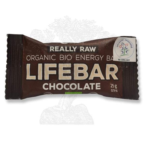 Mini Lifebar dezert čokolada organic LifeFood 25g
