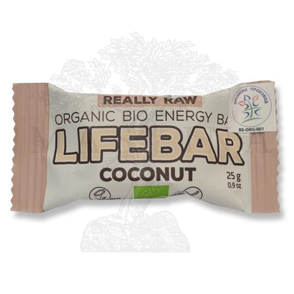 Mini Lifebar dezert kokos organic LifeFood 25g