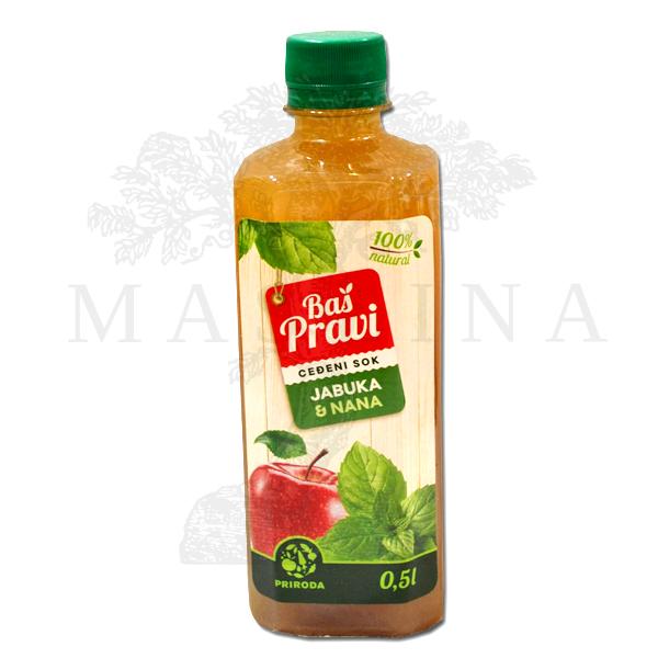 Pravi sok od jabuke i nane 500ml