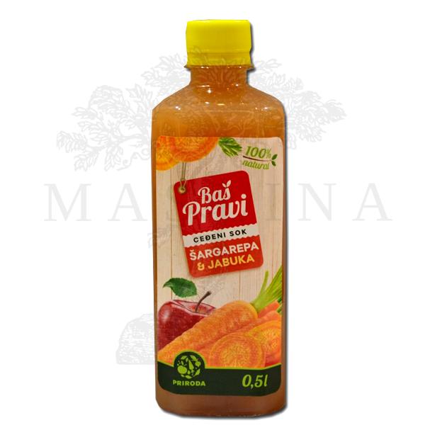 Pravi sok od jabuke i šargarepe 500ml