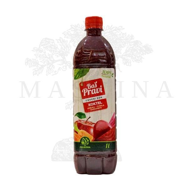 Pravi sok od jabuke, cvekle i šargarepe - koktel  1l