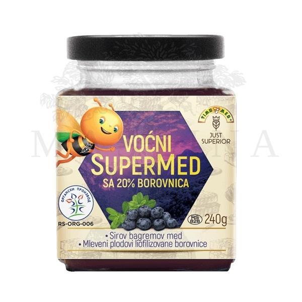 Voćni supermed sa borovnicom organic 240g