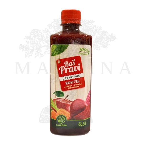 Pravi sok od jabuke, cvekle i šargarepe - koktel  500ml