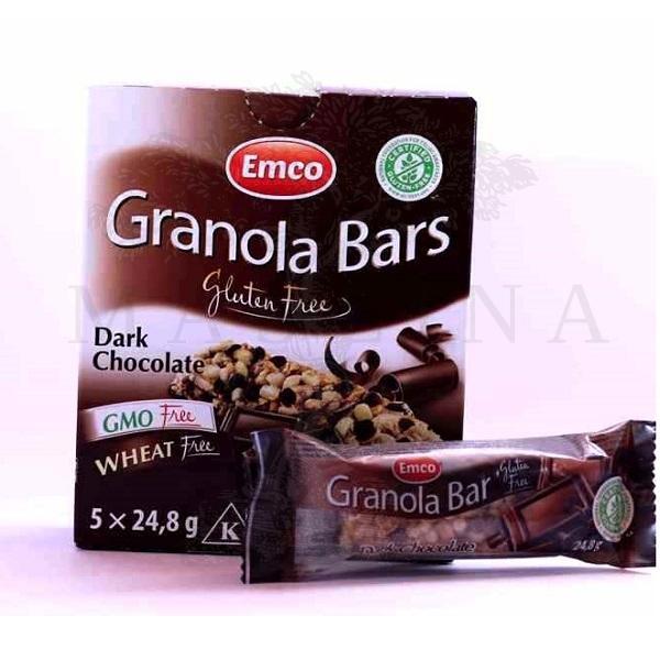 Bezglutenski granola bar crna čokolada Emco 5x28g