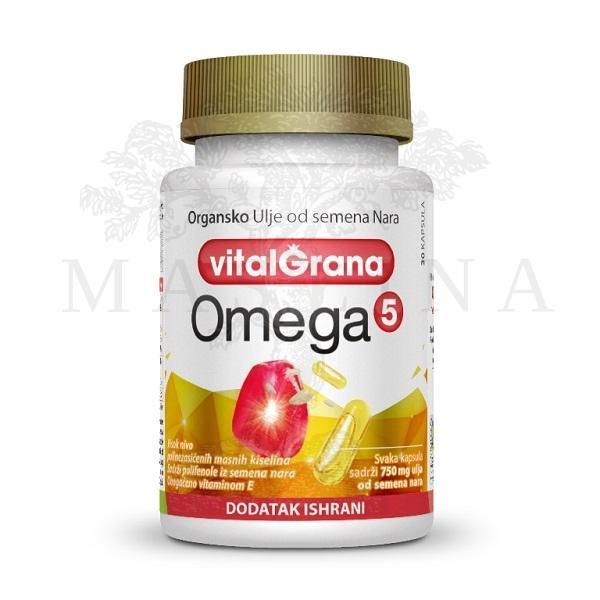 Organsko ulje od semena nara Omega 5 Vitalgrana 30 kapsula