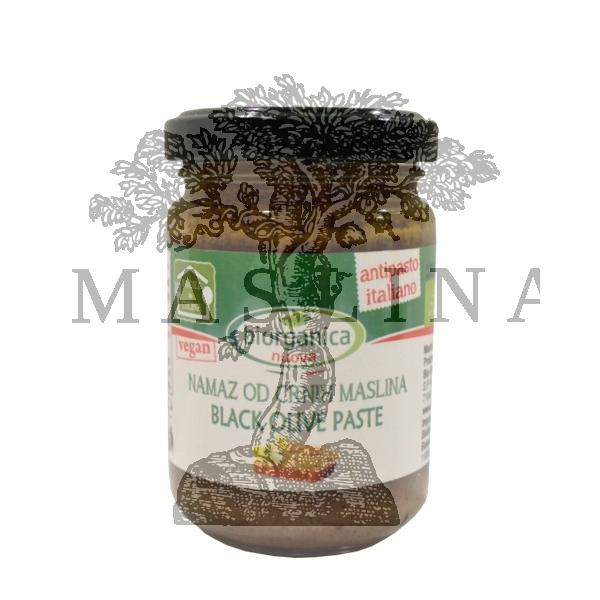 Namaz od crnih maslina organic 140g