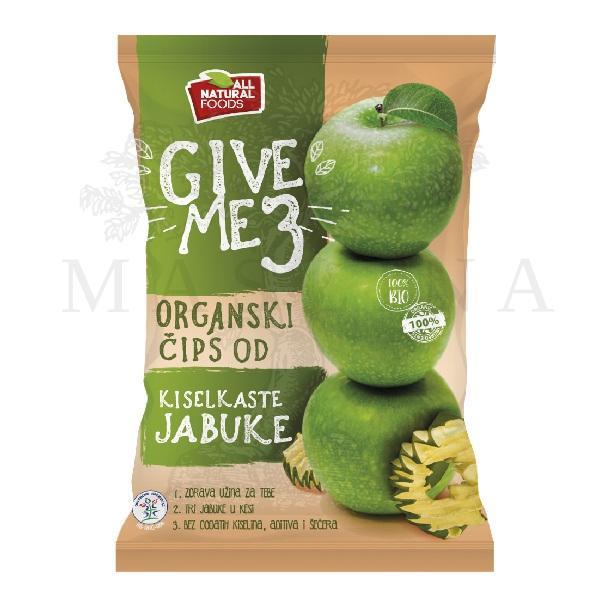 Čips od kiselkaste jabuke organic 40g