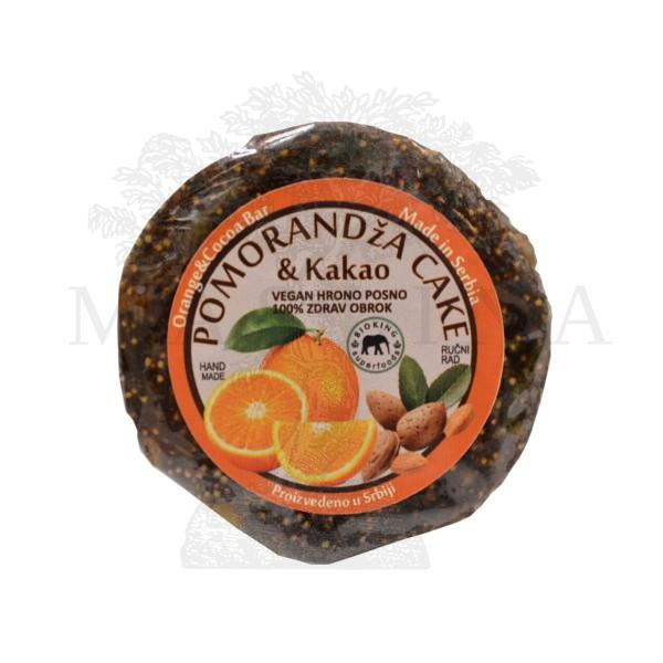 Pomorandža & kakao  cake Bioking 60g