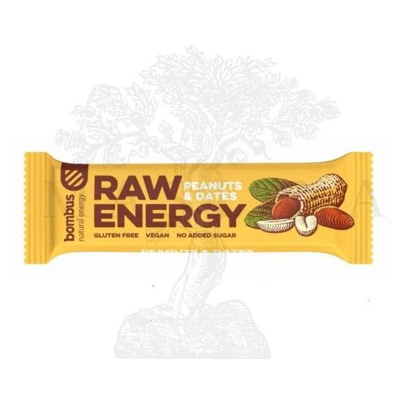 Raw Energy štanglica kikiriki i urma Bombus 50g