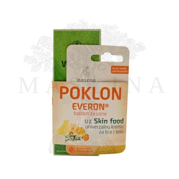 Weleda set Skin Food Krema 75ml + Everon lip balsam za usne 4,8g
